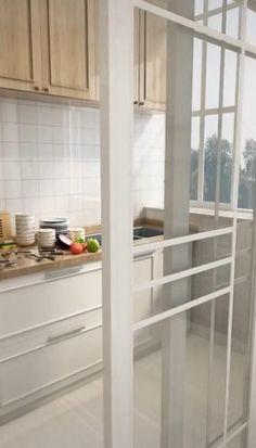 Grey Kitchen Designs, Kitchen Room Design, Home Room Design, Modern Kitchen Design, Home Decor Kitchen, Interior Design Kitchen, Home Kitchens, House Design, Small Apartment Kitchen