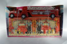Vintage Nylint Fire Truck, Aerial Ladder,  In the box