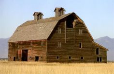 """The Porter barn built in the Flathead Valley, Montana in 1908 was heralded as """"the largest in the entire valley."""" by Tom Ferris"""