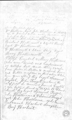 November 3, 2010 ~ This week's Picture of the Week is from the John Hathorne Family Bible Records. Halfway down the middle of the page describes the family's involvement in the Salem Witch Trials. The Hathorne Family Bible Records is part of the North Carolina Family Records Online. Click the image to read the transcription. ^cs