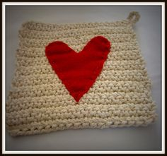 I Love This and That: crochet potholder