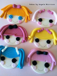 Lalaloopsy cupcake toppers by CakesbyAngela on Etsy, $62,00