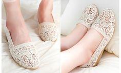 Pretty Lace Korean Woman Shoes