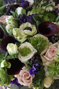rose,calla,anemone,hyacinth and helleborus