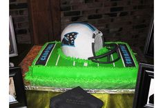Justin and his wife are hardcore Panthers fans. Check out their wedding cake!