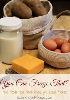 Your freezer can be one of your best tools for taming your grocery budget. Learn how to freeze nine foods you didn't know you could freeze. Cooking For A Crowd, Cooking On A Budget, Freezer Cooking, Budget Meals, Freezer Meals, Cooking Tips, Cook Meals, Cooking Recipes, Easy To Make Dinners