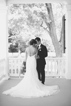 Elegant Southern Style Mansion Wedding | Gray and Lavender | Bride + Groom…