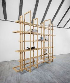 Frames 2.0 Shelving System in Minimalistic Room
