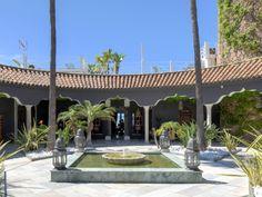 Beautiful #patio with water fountains in frontline beach villa located at the Costa del Sol, Marbella East, Los Monteros.