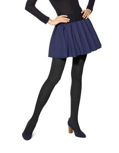 Easy Outfit Formulas: Sweater Dress + Patterned Tights