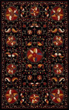 Black and Red Habitat Nouveau Rug (Floors USA)