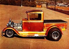 hot rod, muscle cars, rat rods and girls Hot Rod Pickup, Old Pickup Trucks, Hot Rod Trucks, New Trucks, Cool Trucks, Small Trucks, Classic Trucks, Classic Cars, Cool Old Cars