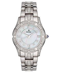 Bulova Watch, Women's Silver-Tone Bracelet 96L116 - Women's Watches - Jewelry & Watches - Macy's