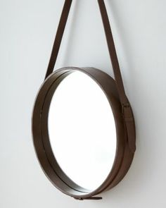 Leather Mirror from garnet hill--inspiration (diy for less than $348)?!?