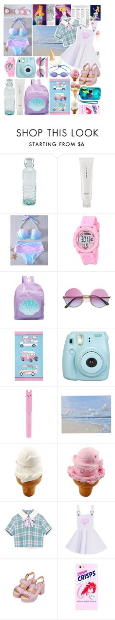 """""""Go to the Beach with Jin💕"""" by ruwena-a-w ❤ liked on Polyvore featuring Global, AmorePacific, Garcia, ZeroUV, At Home with Ashley Thomas, Fujifilm, TONYMOLY, Disney and Topshop"""