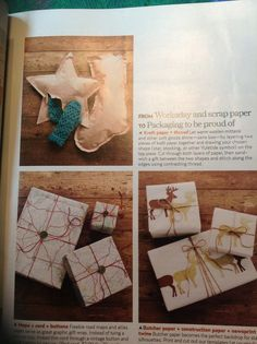 Creative  Gift wrapping I love the sewed gift
