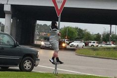Police free Houston man duct taped to pole after losing bet