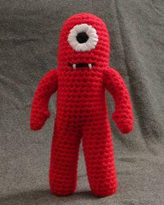 Muno from Yo Gabba Gabba! Free crochet pattern for Muno here on Craftster. Handmade by Soulmom.