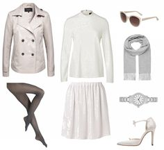 #Herbstoutfit White ♥ #outfit #Damenoutfit #outfitdestages #dresslove