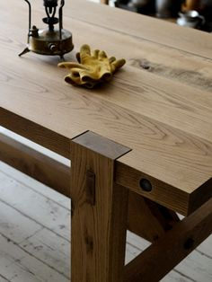TRUCK|248. WORKSHOP TABLE Coffe Table, Dining Table, Kitchen Tables, Kitchen Ideas, Table Furniture, Furniture Design, Furniture Ideas, Diy Projects Engineering, Japanese Joinery