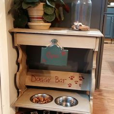 Doggy Bar -check out Www.thegardenfrog.me for the reveal