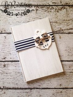Nautical Wedding Guest Book  Personalized by LoRustique on Etsy