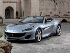 Ferrari portofino, silver convertible car wallpaper