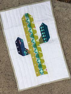 Sonoran Saguaro Cactus Mini Quilt/Lap Quilt Pattern