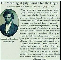Meaning of the fourth of July to the Negro.