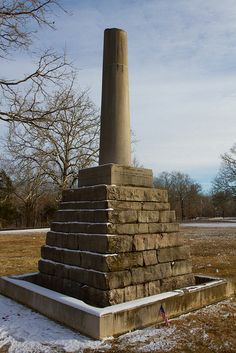 This simple, broken column marks the final resting place of one of America's most famous explorers