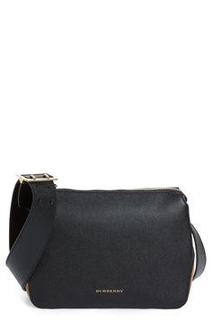 New Burberry Helmsley House Check Leather Crossbody Bag fashion online. [$995]?@shop.seehandbags<<