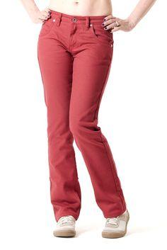 Le modèle 201 ORI 13 est un jeans droit de couleur rouge pour femme.Denim 100% coton bio. Modèle filé, tissé, teint et confectionné en France. Inspiré (...)