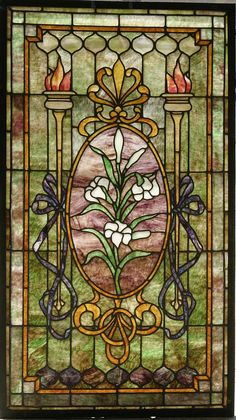 American Stained Glass Window #353 - The Antique Traders