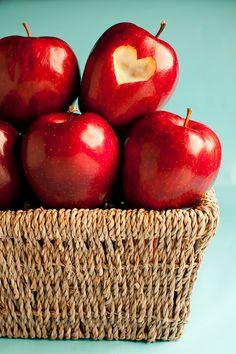 basket of apples and love...