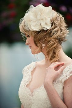 Vintage-inspired wedding hairstyle