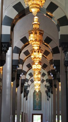 Inside the Grand Mosque Sultanate Of Oman, Grand Mosque, Chandelier, Ceiling Lights, Luxury, Home Decor, Candelabra, Decoration Home, Room Decor