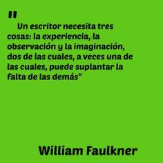 William Falkner, premio Nobel de literatura en el año 1949 fue considerado rival estilístico de Hemingway y también ejerció como periodista.