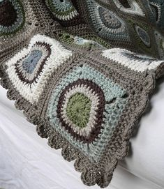 Circles blanket | Newly finished granny square blanket made … | Flickr