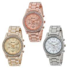 fc7585f1fce Relógio Sanwony Pulseira em Aço 3 modelos Relógio De Metal