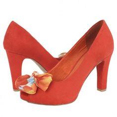 Pantofi casual dama Marco Tozzi red Peeps, Peep Toe, Platform, Casual, Red, Shoes, Fashion, Moda, Zapatos