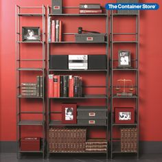 Sturdy shelves that make a statement. (Pictured: 6-Shelf Iron Folding Bookshelf, 6-Shelf Iron Folding Tower)