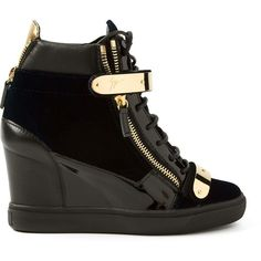 Giuseppe Zanotti Design Wedge Hi-Top Sneakers