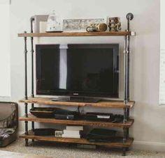 meuble tv de style industriel avec tuyaux