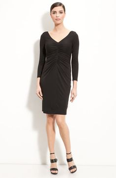 St John V-Neck Jersey Dress.So cute for every body type!