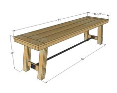 DIY Bench - instead of an expensive patio tables/chair, build these benches and table for a rustic/simple look