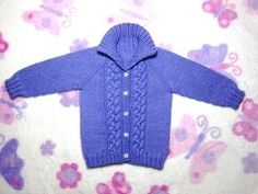In this video you will learn how to crochet this baby cardigan/sweater. Using basic stitches you will be able to crochet this lovely baby cardigan. Baby Knitting Patterns, Baby Cardigan Knitting Pattern Free, Baby Sweater Patterns, Crochet Baby Cardigan, Knitting For Kids, Free Knitting, Vogue Knitting, Knitting Pullover, Baby Pullover Muster
