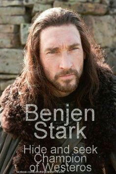 Game of Thrones: Benjen Stark, Brother of Lord Eddard Stark and Sworn Brother and Ranger of The Night's Watch. Game Of Thrones Wiki, Game Of Thrones Funny, Valar Morghulis, Valar Dohaeris, Winter Is Here, Winter Is Coming, Joseph Mawle, Lord Eddard Stark, Jon Snow