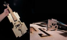 8-bit violin made by Ranjit Bhatnagar.  As seen on www.wired.com/gadgetlab/2011/02/the-amazing-wooden-b-bit-violin/