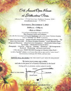 Stillwaters Farm's Open House, Henderson, TN, December 7, 2013.  Visit https://www.facebook.com/siloatstillwatersfarm to learn more.