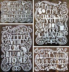 papercuts, i think by Julene Harrison